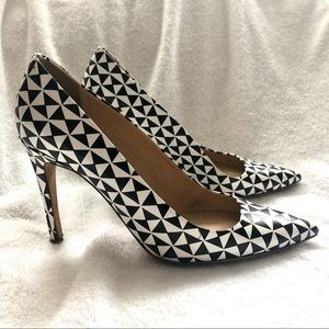 JCREW *Made in Italy* Geometric Pumps